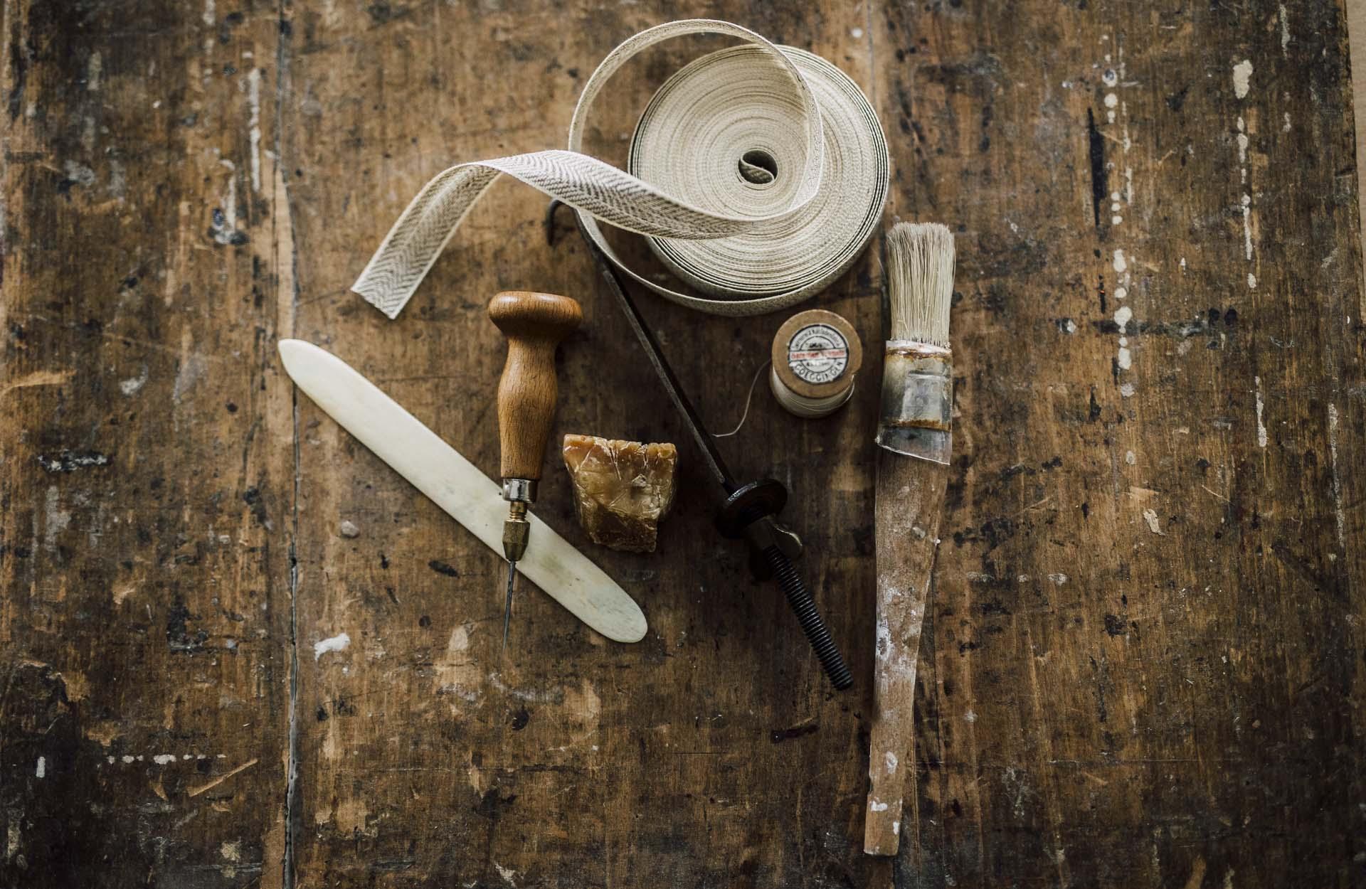 Buchbinder Werkzeuge